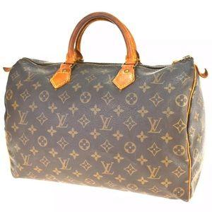 🔥😳Louis Vuitton Monogram Speedy 35 Handbag